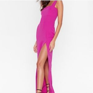 NastyGal Square With Me Maxi Dress